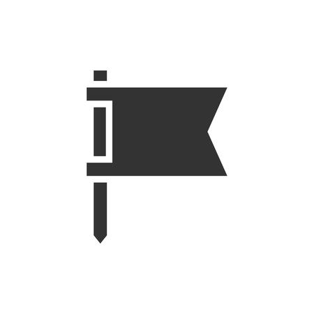 Simple flat design icon. Flag illustration. Graphic element for web design. Simple clean icon. Ui UX design element Ilustrace