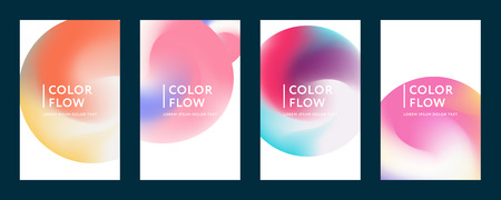 Abstract color covers. Set of bCKGROUNDS. Abstract gradient background. Wave blend pattern. Fluid shapes composition. Futuristic design posters. Eps10 vector. Фото со стока - 125576446