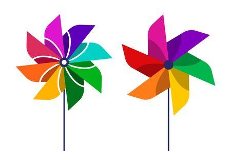 The pinwheel   flat design vector illustrations. Фото со стока - 128694342