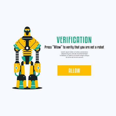 The chat bot vector design illustration. Modern flat style. Chat bot icon .