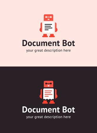 The document bot vector design illustration. Modern flat style. Document bot icon . Design. UI UX element for web design.