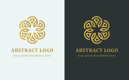 Abstract  illustrations. Gold luxury style. Ilustracja