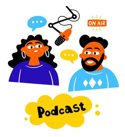 Podcast pair of characters