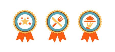 set of flat design icons for restaurant web page, ui ux flat design vector illustration.