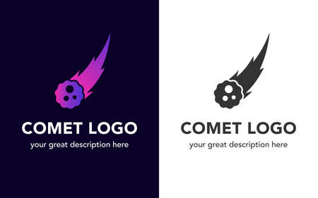 Comet icon set. Illustration