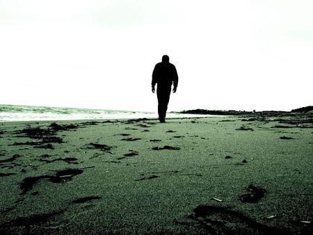 lonliness: walk alone Stock Photo