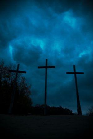 persecution: crosses Stock Photo