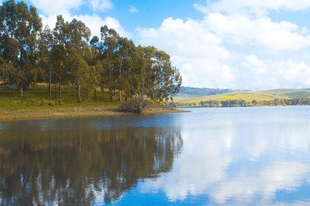 blu sky: lake
