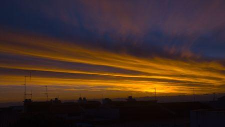 blu sky: sunset