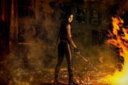 revenge: warrior girl Stock Photo