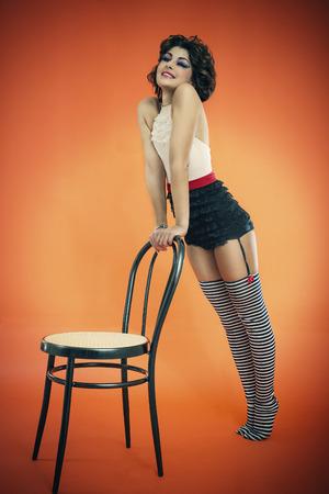 reggicalze: ragazza copertina Archivio Fotografico