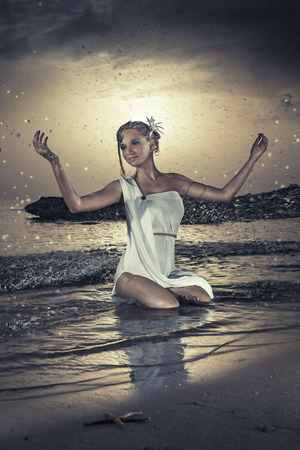 sea goddess Stock Photo