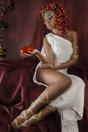 ancient sexy: tomato girl