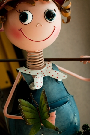 loveable: Cute metal doll