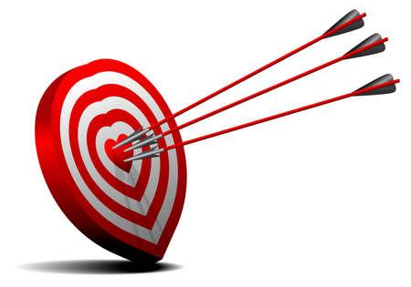 one heart target 向量圖像