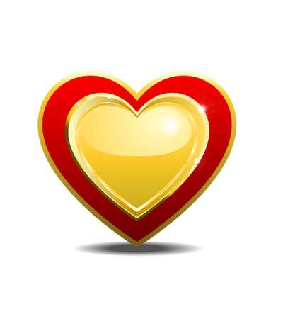 one heart 向量圖像