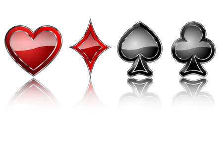 gemstone: card symbols jewelry