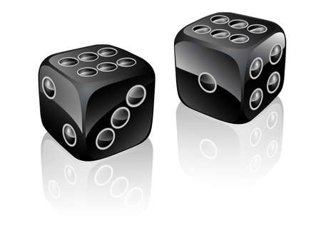 two dices black Illustration