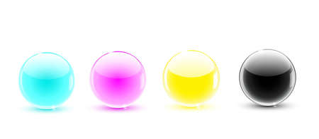 glass balls CMYK Stock Vector - 9846067