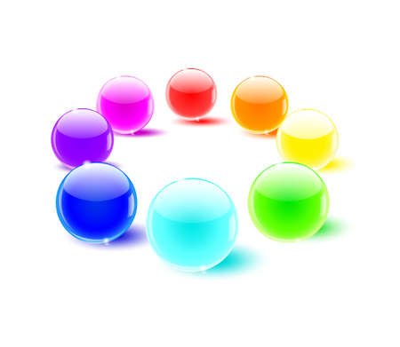 color balls perspective Vector