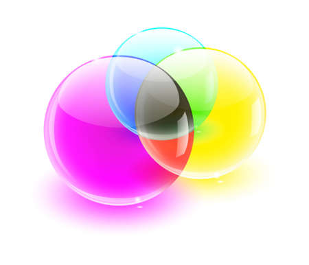 color glass balls color MIX Illustration