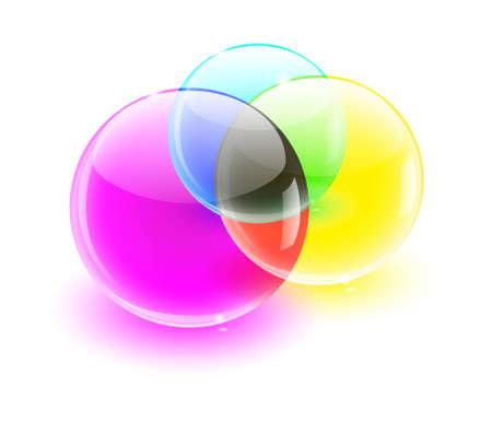rgb: color glass balls color MIX Illustration