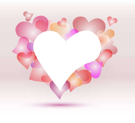 hearts background Illustration