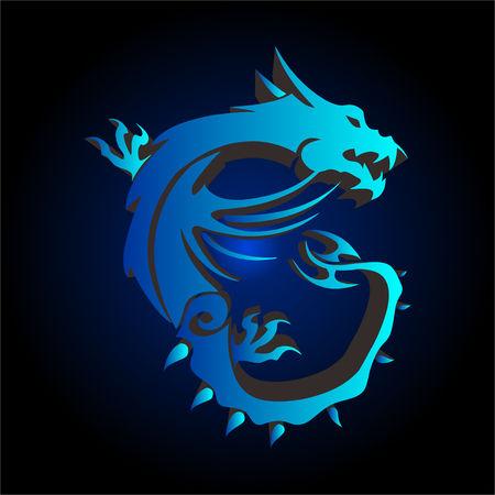 dragon gaming Illustration