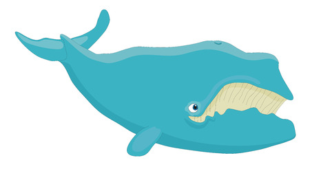 biggest animal: Whale vector cartoon ilustration  Illustration