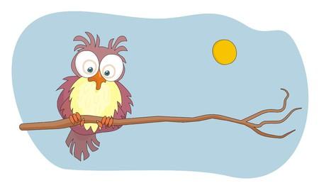 Owl cartoon vector illustration