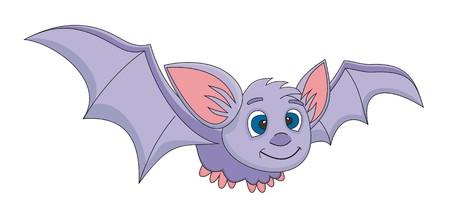 Bat cartoon illustration  Vector