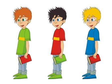 young man jeans: Boy cartoon  illustration  Illustration