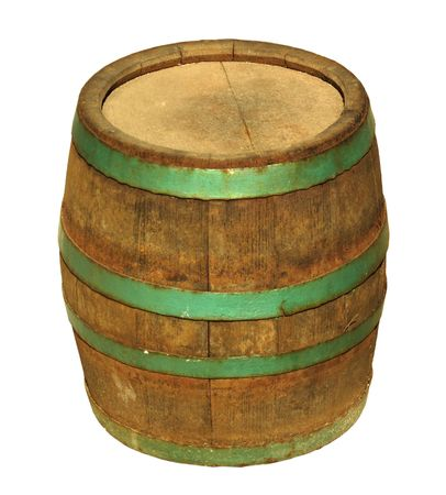Old traditional wooden barrel