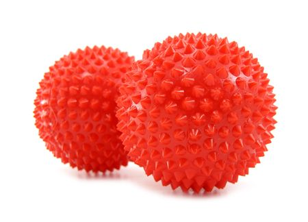 Ball toy red with pins  Stock Photo - 6983006