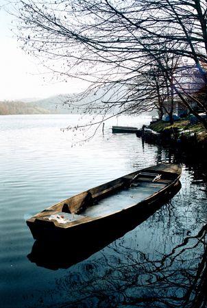 morava: Boat on river Morava