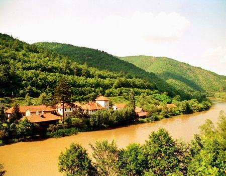 morava: Monastery on Morava Stock Photo
