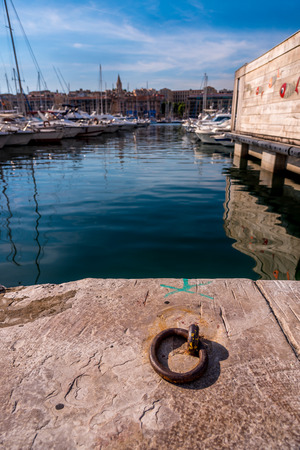 old port: Vieux port Old port in Marseille, France Stock Photo