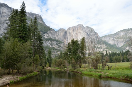 merced: View of Yosemite Falls from Merced River