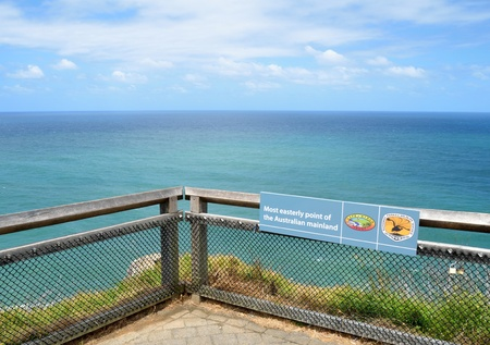 lookout: View of the most easterly point of the Australian mainland Stock Photo