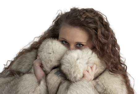 girl in fur photo