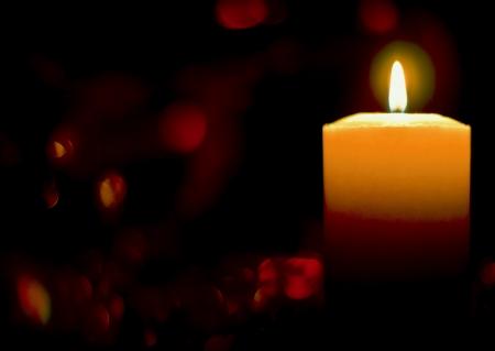 candlelight: burning candle Stock Photo