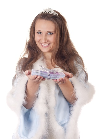 Snow Maiden with money photo