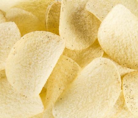totopos: delicious potato chips  Stock Photo