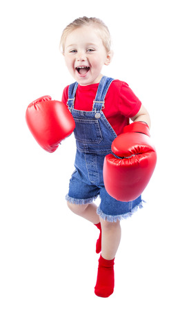 rehearse: baby boxer on a white background