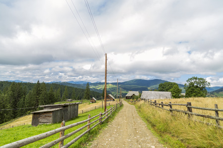 Nature Vorohta village in the Carpathian Mountains