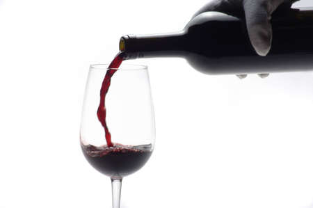 sommeliers: glass of win Stock Photo
