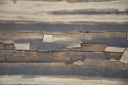 wornout: Detail of an old wooden worn Wooden table Stock Photo