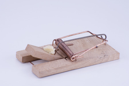 mousetrap on a white background Stock Photo