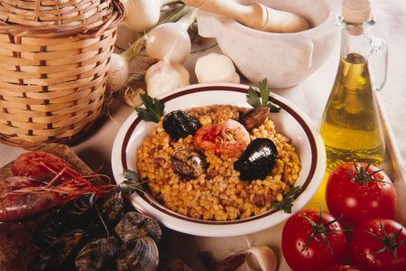 spawning: spawning seafood recipe typical Sardinian pasta