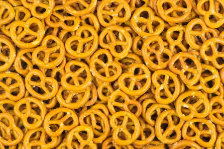 pretzels: Salted Pretzels Stock Photo
